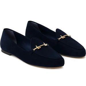 Authentic Lafayette 148 New York Gigi Suede Loafer